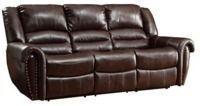 HomeVance Halesboro Double Reclining Sofa