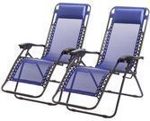 Set of 2 Zero Gravity Lounge Patio Chairs