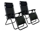 2x FDW Zero Gravity Outdoor Patio Chairs
