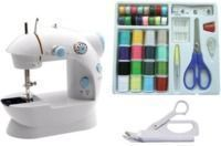 Michley Lil' Sew & Sew Mini Sewing Machine 3-Piece Bundle