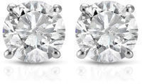 1ct Diamond Studs In 14K White Gold