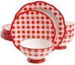 The Pioneer Woman Charming Check 12-Piece Dinnerware Set