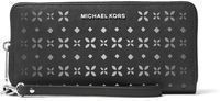 MICHAEL KORS Jet Set Perforated-Leather Continental Wallet