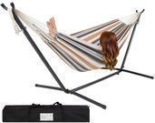 Double Hammock w/ Stand Includes Portable Carrying Case
