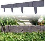 TerraTrade 10-Piece Cobblestone Flower Bed Border