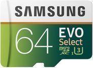 64GB Samsung EVO Select Class 10 U3 MicroSDXC Memory Card