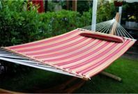 Merax Hammock with Pillow - Multicolored Stripe