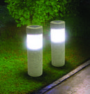 Two Ideaworks Solar Pillar LED Pathway Lights