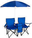 Double Folding Chair w/ Umbrella, Table & Cooler