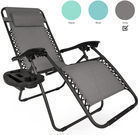 Set of 2 Zero Gravity Recliners w/ Utility Tray - 4 Colors