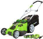 GreenWorks 25302 40V 20 Cordless Lawn Mower w/ 2 Batteries