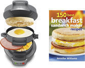 Hamilton Beach Breakfast Sandwich Maker + 150 Recipe Book