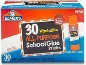 Elmer's 30 Pack All Purpose School Glue Sticks w/ Alexa