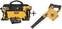 Dewalt 20-Volt 2-Tool Drill/Driver Pack + Blower