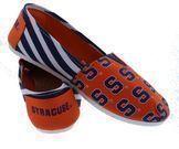 NCAA Team Logo Stripe Women's Slip On Canvas Shoes
