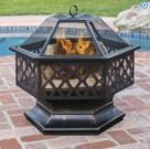 Best Choice Products Hex Shaped Fire Pit Bowl