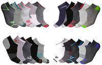 Men's Moisture Wicking Low-Cut Socks 20-Pack
