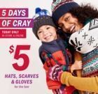 Old Navy - 5 Days of Cray | Hats, Scarves & Gloves for $5