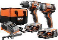Ridgid 18-volt Lithium-Ion Drill and Impact Driver Combo Kit