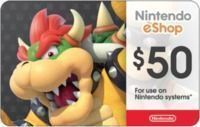 $50 Nintendo Gift Card - Email Delivery
