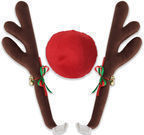 Reindeer Antlers & Red Nose for Cars