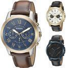 Fossil Men's Grant 44mm Chronograph Leather Watch
