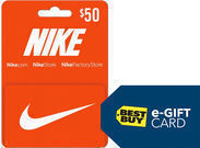 $50 Nike Gift Card + Free $10 Best Buy eGift Card