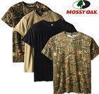 Four Mossy Oak Men's Moisture Wicking Cotton T-Shirts