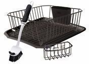Rubbermaid Antimicrobial Sink Dish Rack Drainer 4-Piece Set