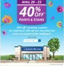 Sherwin Williams - 40% Off Paints & Stains