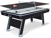 NHL 80 Air Powered Hover Hockey Table w/ Table Tennis Top