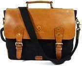 Aaron Leather 14.5 Handmade Leather/Canvas Messenger Bag