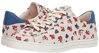 COACH C126 Low Top Sneaker (Red/Blue Floral/Navy Leather)