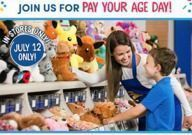 Build-A-Bear - Pay Your Age Day (In-Stores)