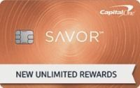 CapitalOne - Savor Card: 4% Cash Back on Dining & Entertainment