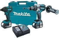 Makita 18V Li-Ion Cordless Hammer Drill/Impact Driver Kit