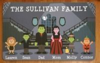 Personalized Spooky Family Halloween Doormat