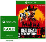 Red Dead Redemption 2 + Xbox Live 3 Month Gold Membership