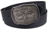 Levi's Men's Leather Belt w/ Plaque Buckle