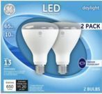 GE 2pk 65W EQ Daylight Dimmable Light Bulbs (Limited Stock)