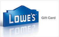 $100 Lowe's Physical Gift Card