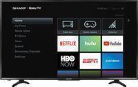 Sharp 43 Class 4K LED Smart UHD TV w/ HDR & Roku