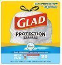 Glad OdorShield Drawstring 13-Gallon Trash Bags 110-Pack