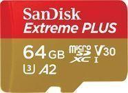 SanDisk Extreme PLUS 64GB microSDXC UHS-I Memory Card
