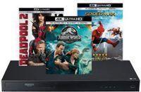 LG 4K Blu-Ray Player + 3 Select 4K Movies Bundle