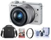 Canon EOS M100 Mirrorless Camera w/ Accessory Bundle
