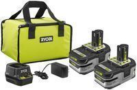 Ryobi 18V ONE+ Lithium+ HP Battery Starter Kit + Free Tool