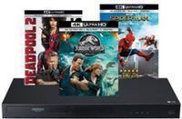 LG 4K Blu-Ray Player + 3 Select 4K Movies