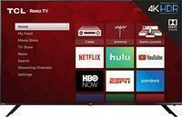 TCL 65R617 65 4K Ultra HD Roku Smart LED TV