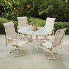 Hampton Bay Shell 5-Piece Aluminum Outdoor Dining Set